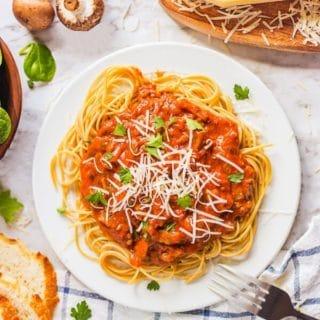 Homemade Spaghetti Sauce title