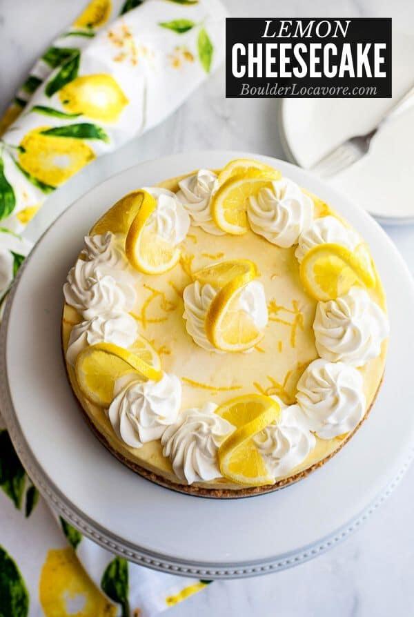 Lemon Cheesecake title image