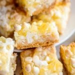 Magic Bars with pineapple and coconut title image