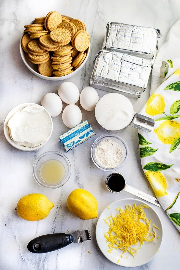 lemon cheesecake ingredients
