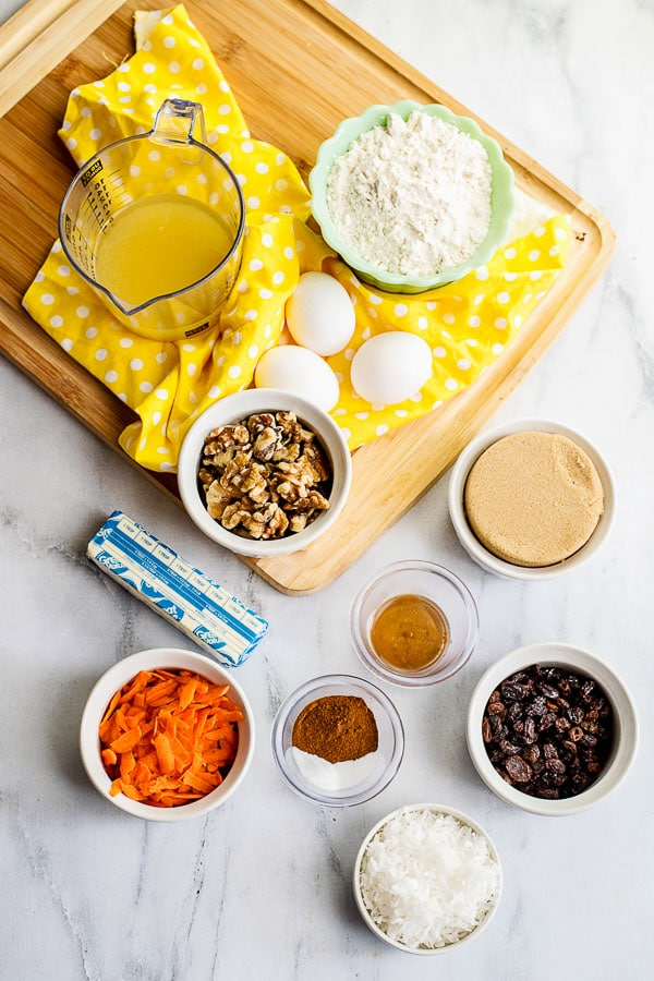 Carrot Cake Cookies ingredients