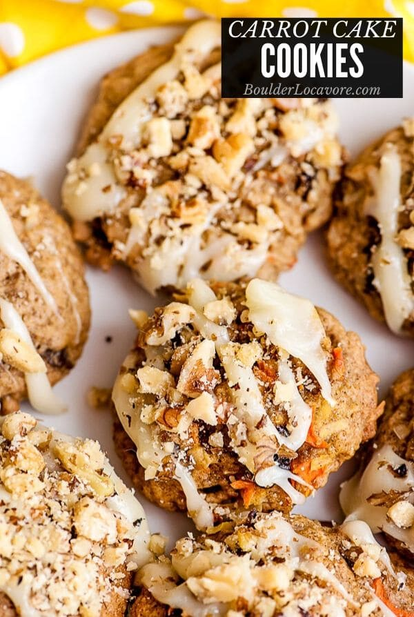 Carrot Cake Cookies title image