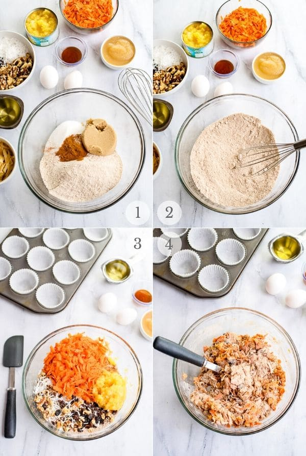 Morning Glory muffins recipes steps 1-4