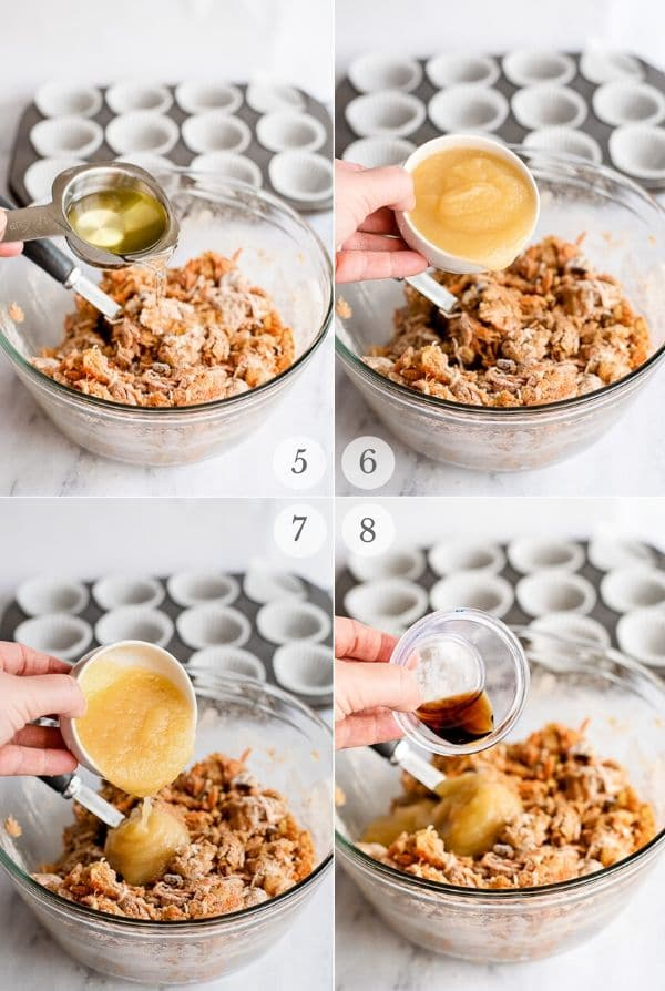 Morning Glory muffins recipes steps 5-8