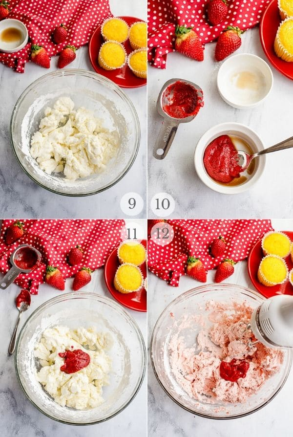 Strawberry Frosting recipes steps photos 9-12