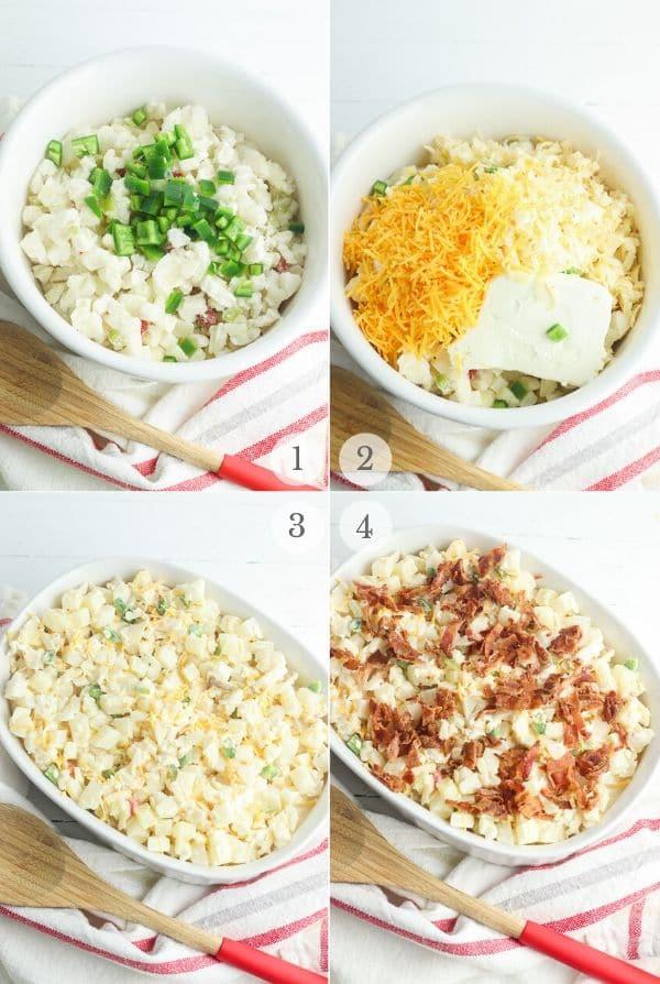 jalapeno popper cheesy potato recipe steps collage 1