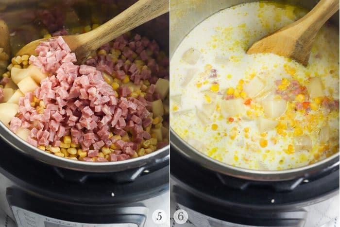 potato corn chowder recipe steps 5-6