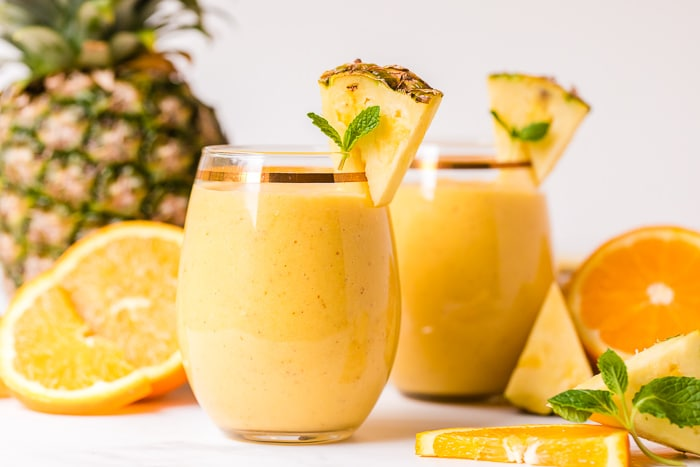 tropical smoothies with fruits