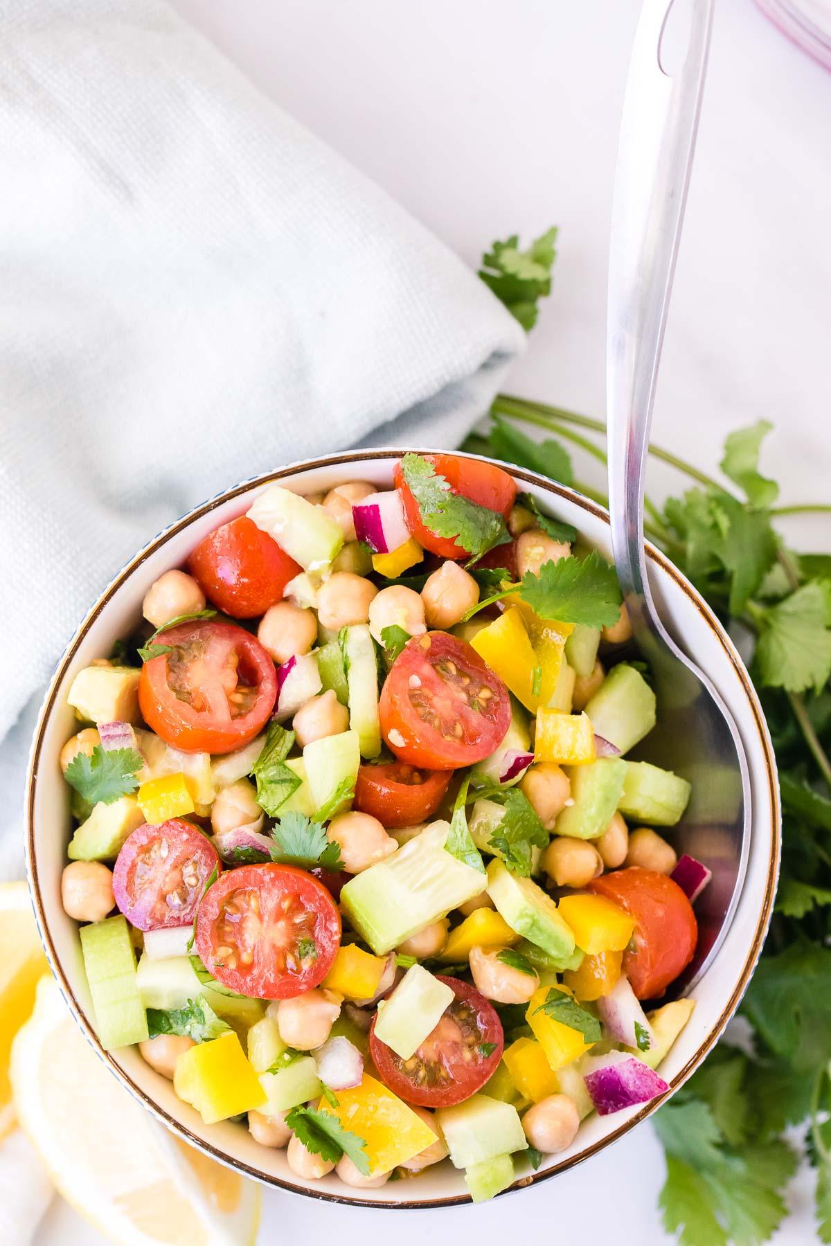 Chickpea Salad overhead