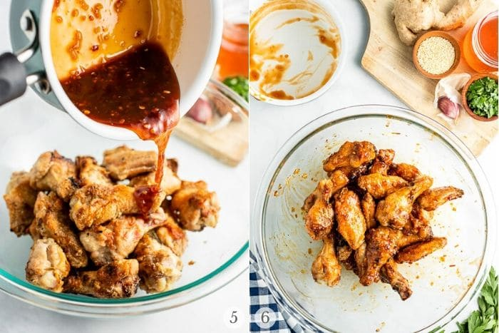 Grilled Chicken Wings recipe steps photos 5-6