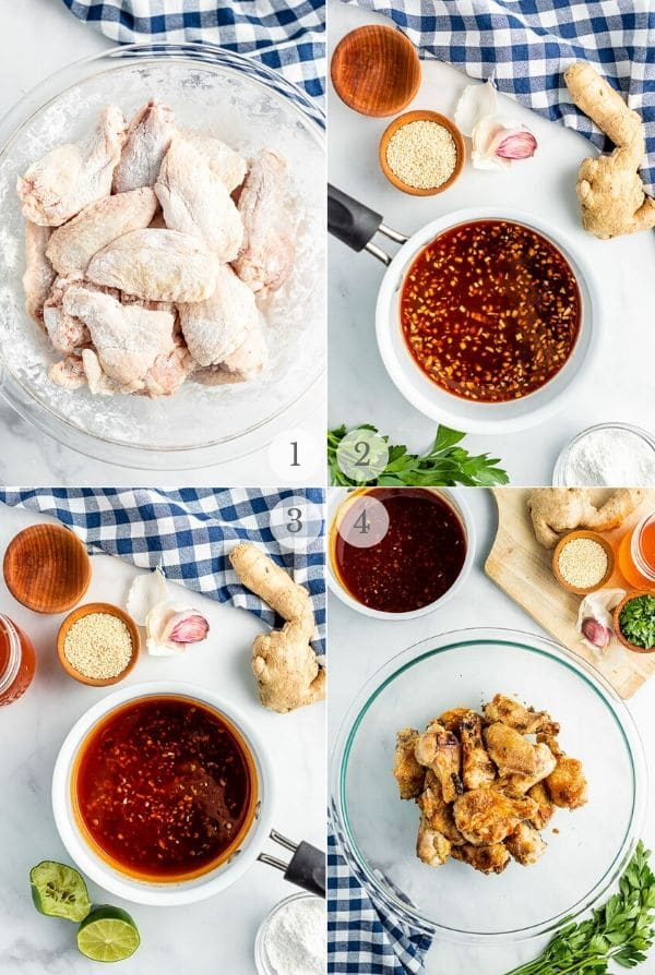 Grilled Chicken Wings recipes steps photos steps 1-4