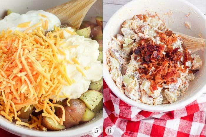 Instant Pot Potato Salad recipe steps photos 5-6