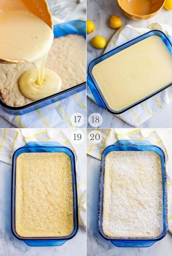 Lemon Bars - recipe steps photos 17-20
