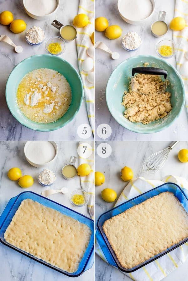 Lemon Bars recipe steps - photos 5-8