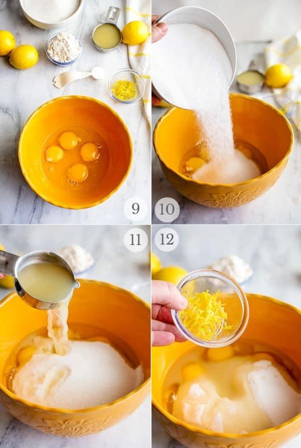 Lemon Bars - recipe steps photos 9-12