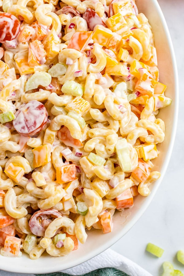 Macaroni Salad close up