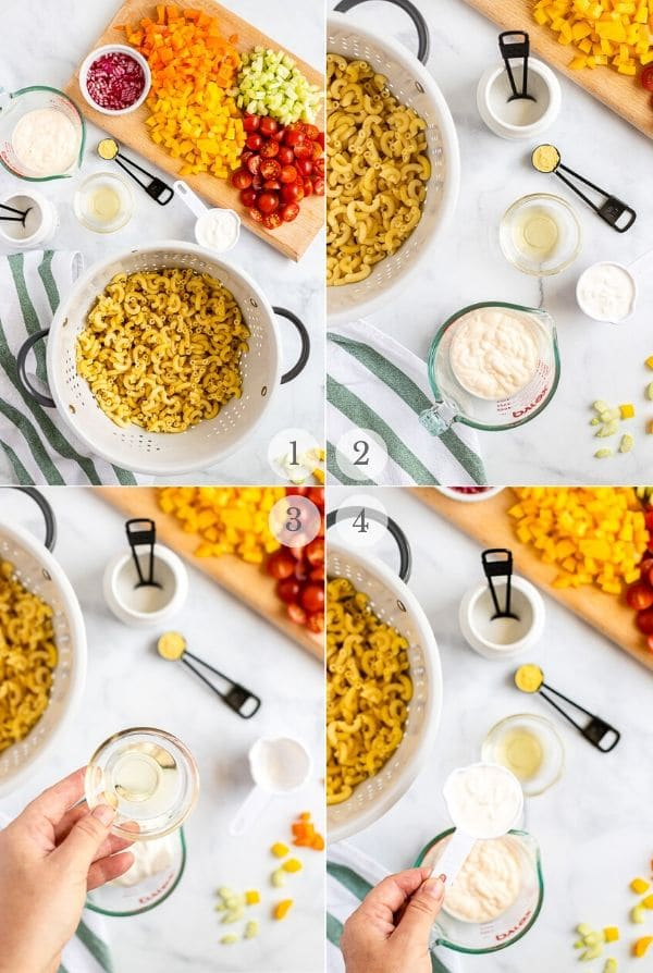 Macaroni Salad recipes steps (photos) 1-4