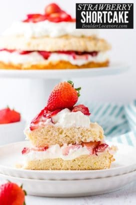 Strawberry Shortcake slice with cake in background title image