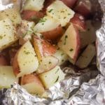 Grilled Potatoes in Foil with Garlic and Parmesan