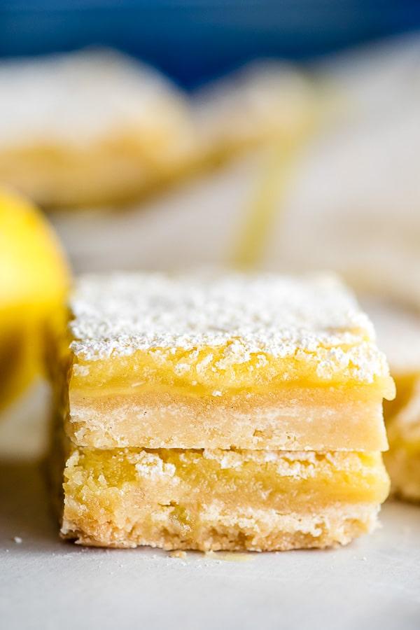 stack of two lemon bars