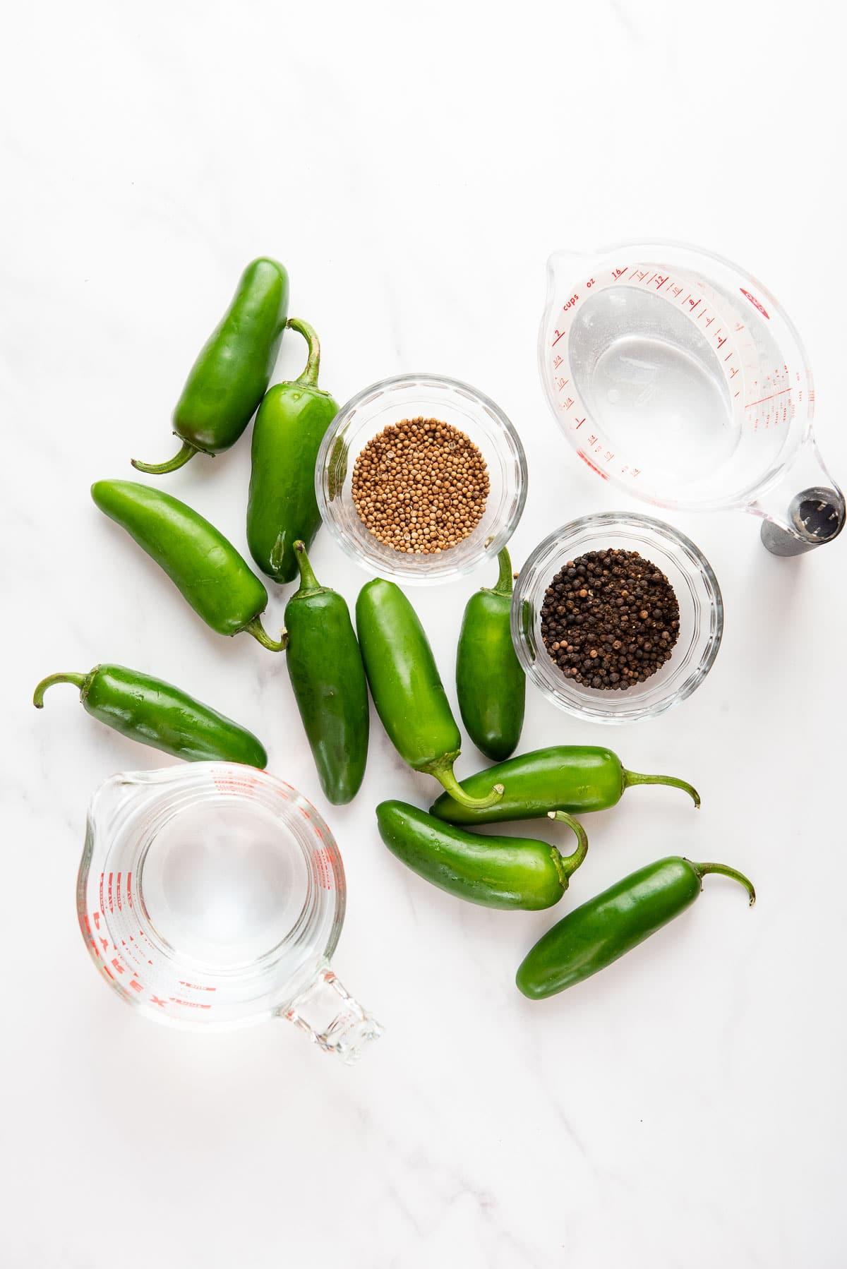 Pickled Jalapenos ingredients