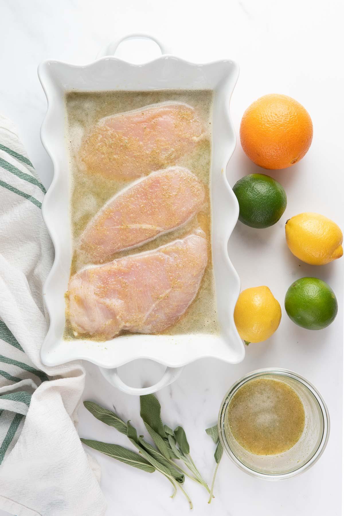 chicken in citrus chicken marinade