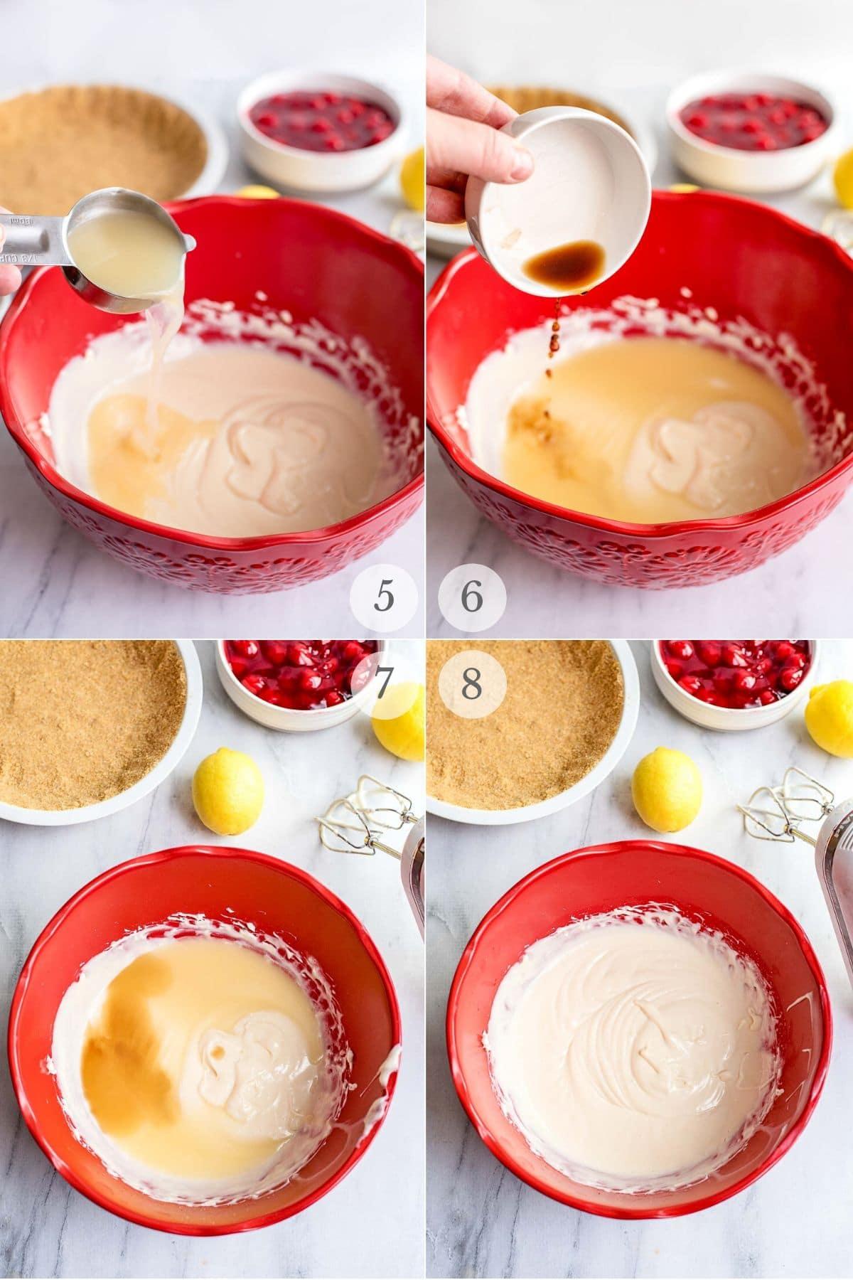 cherry cream cheese pie recipe steps 5-8