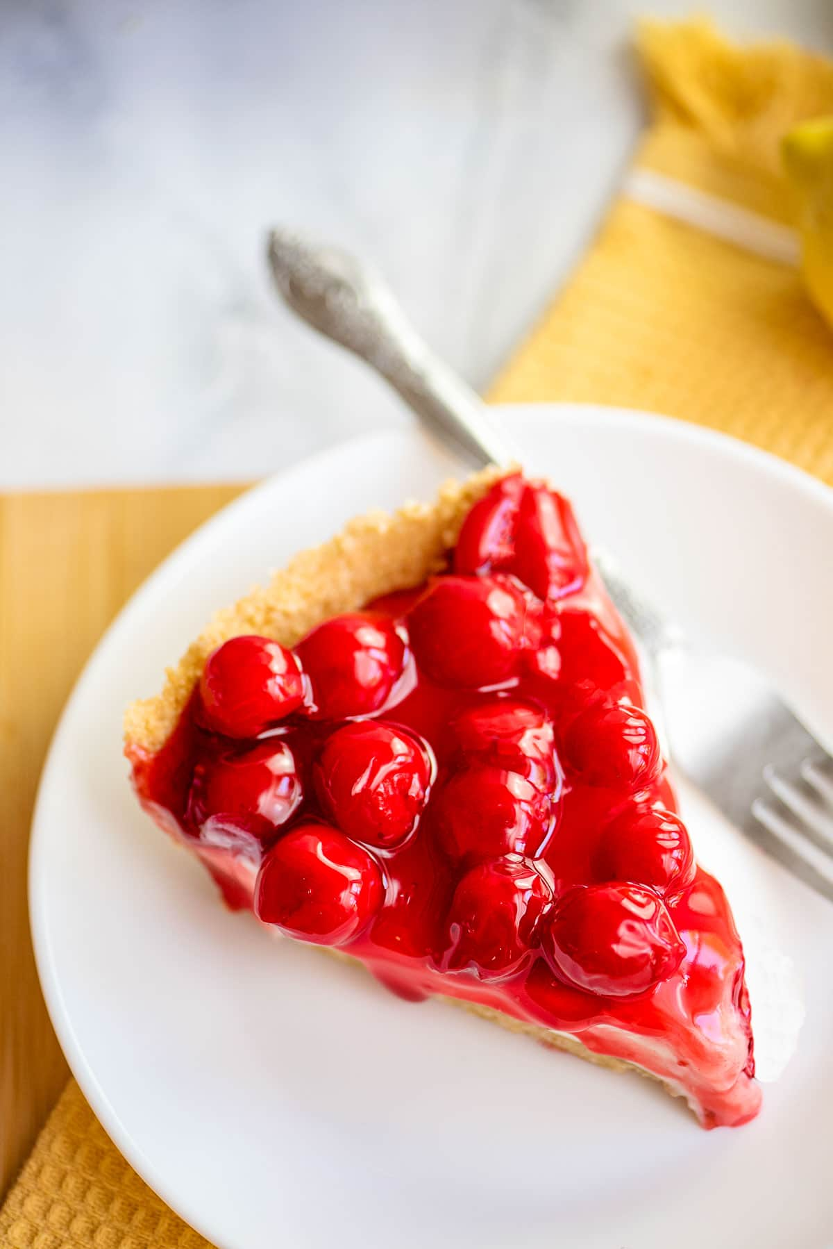 cherry cream cheese pie slice