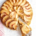 peach upside down cake title image