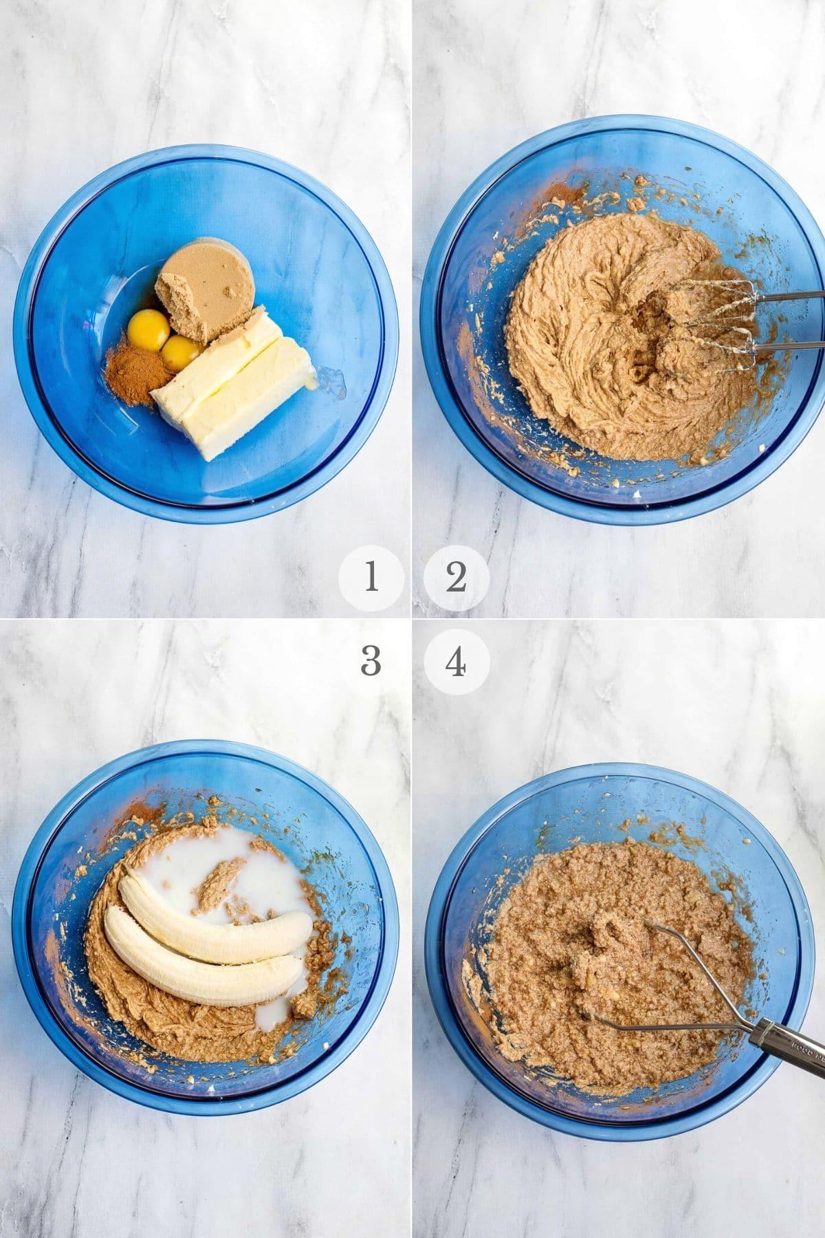 Banana Bread Cookies recipes steps 1-4