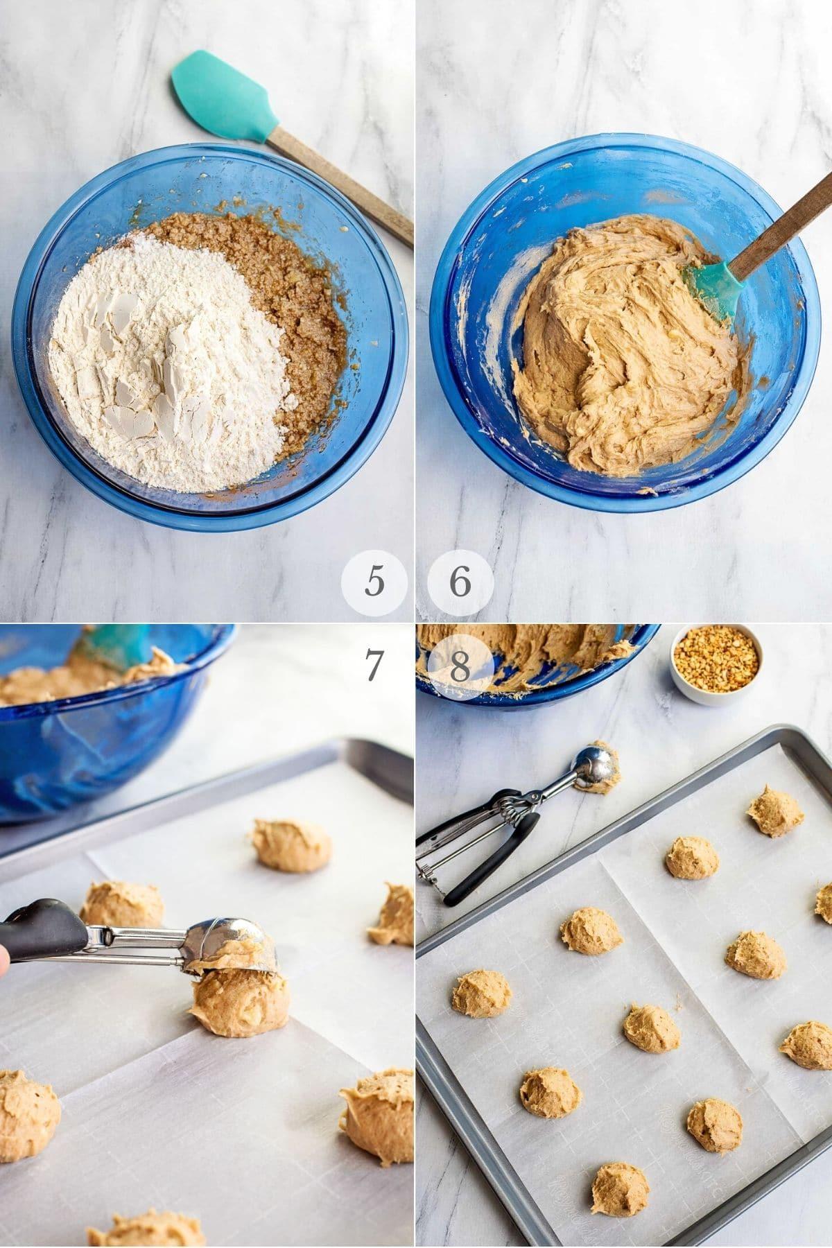 Banana Bread Cookies recipes steps 5-8