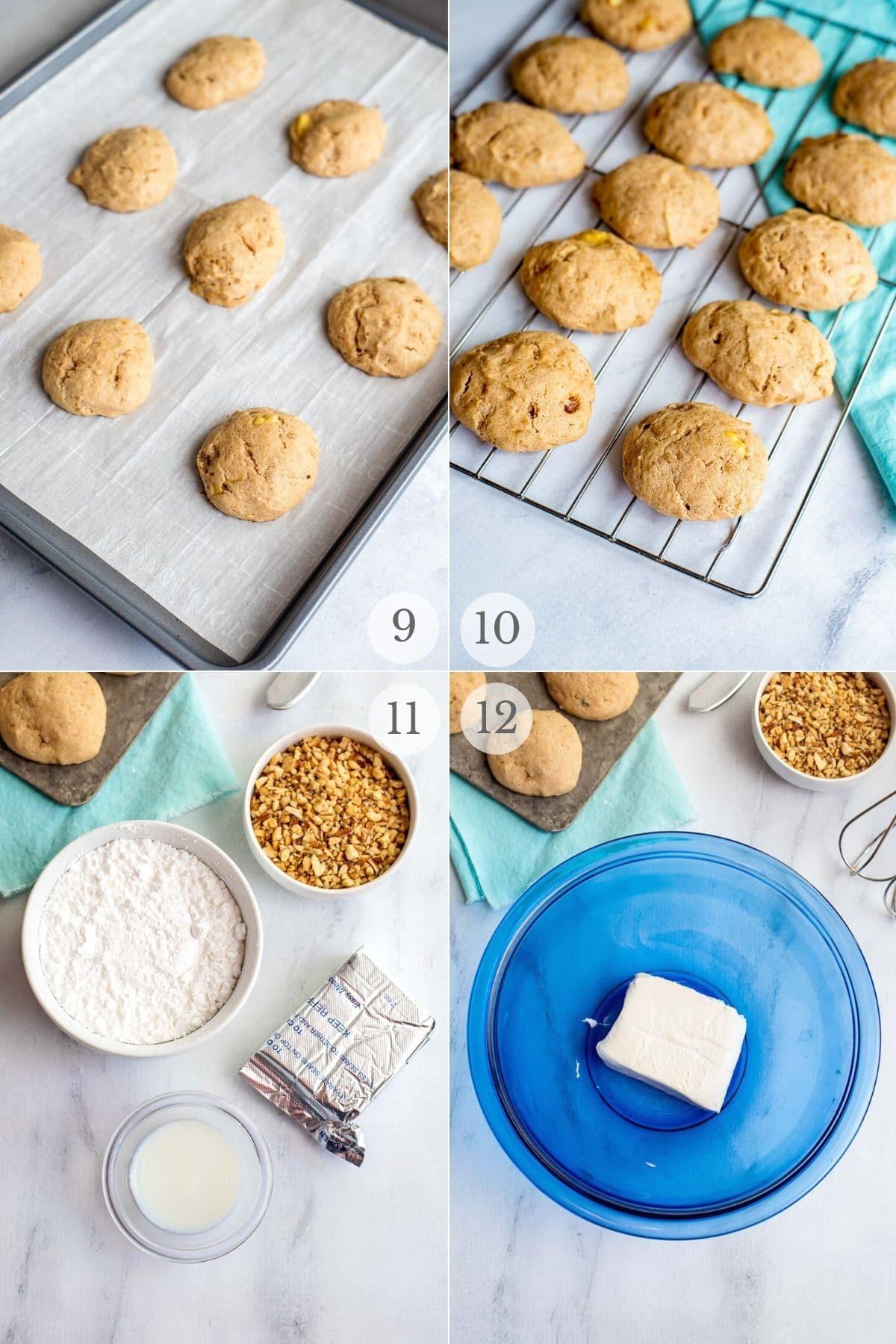 Banana Bread Cookies recipes steps 9-12