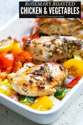 Roasted chicken breasts with vegetables title image