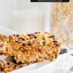 baked oatmeal photo with title