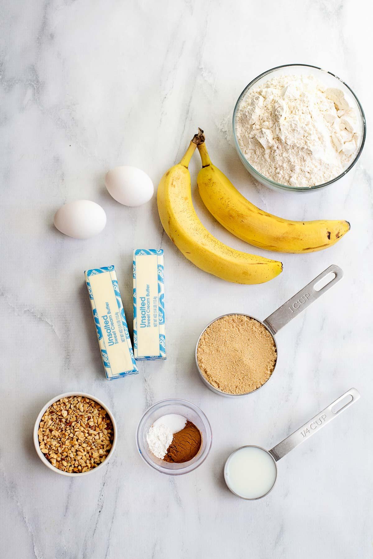 banana bread cookies ingredients