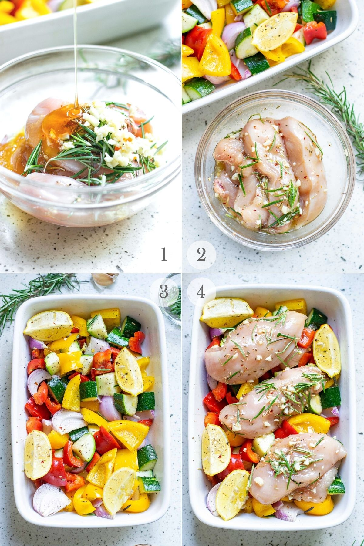 roasted chicken recipe steps collage