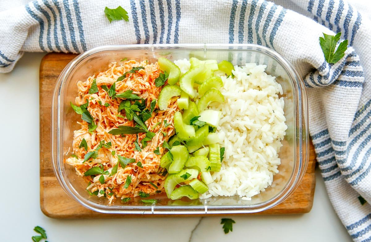 shredded buffalo chicken meal prep