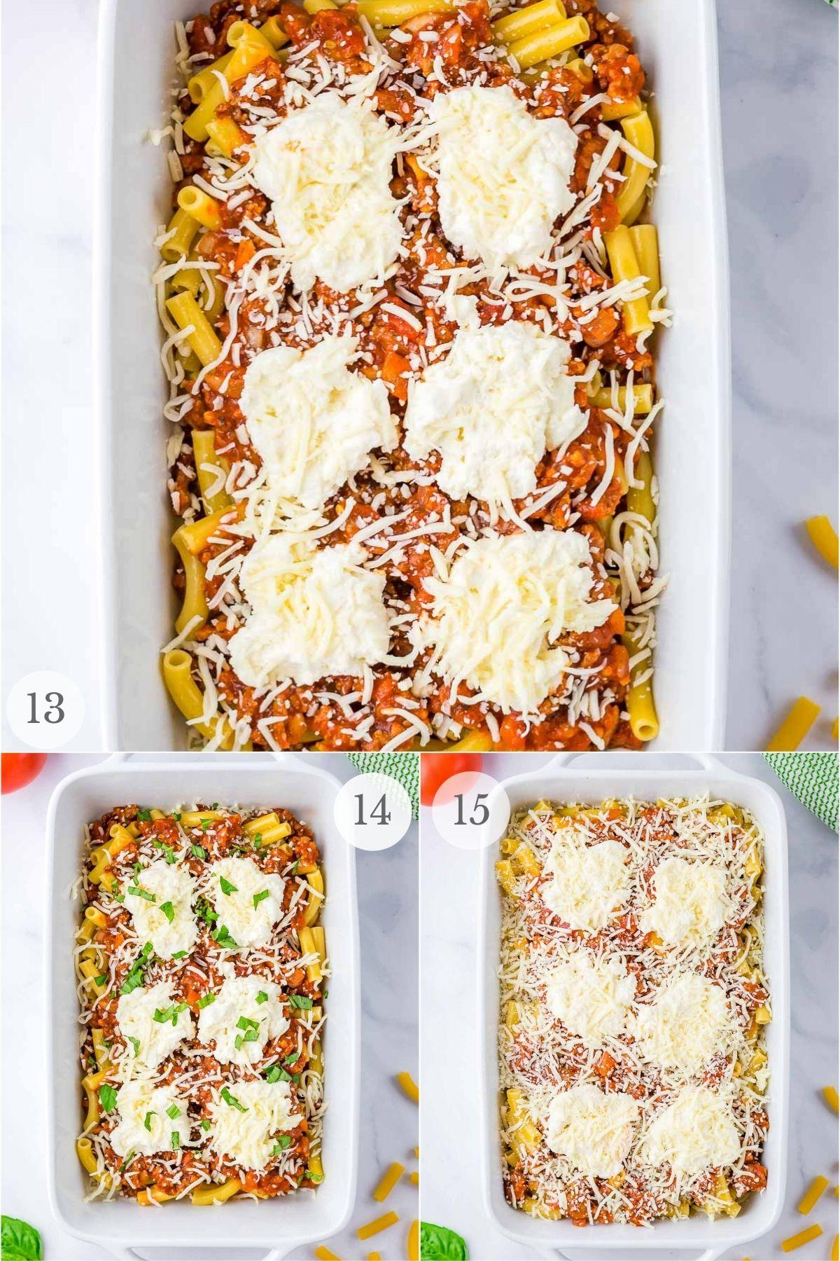 baked ziti recipe steps 13-15