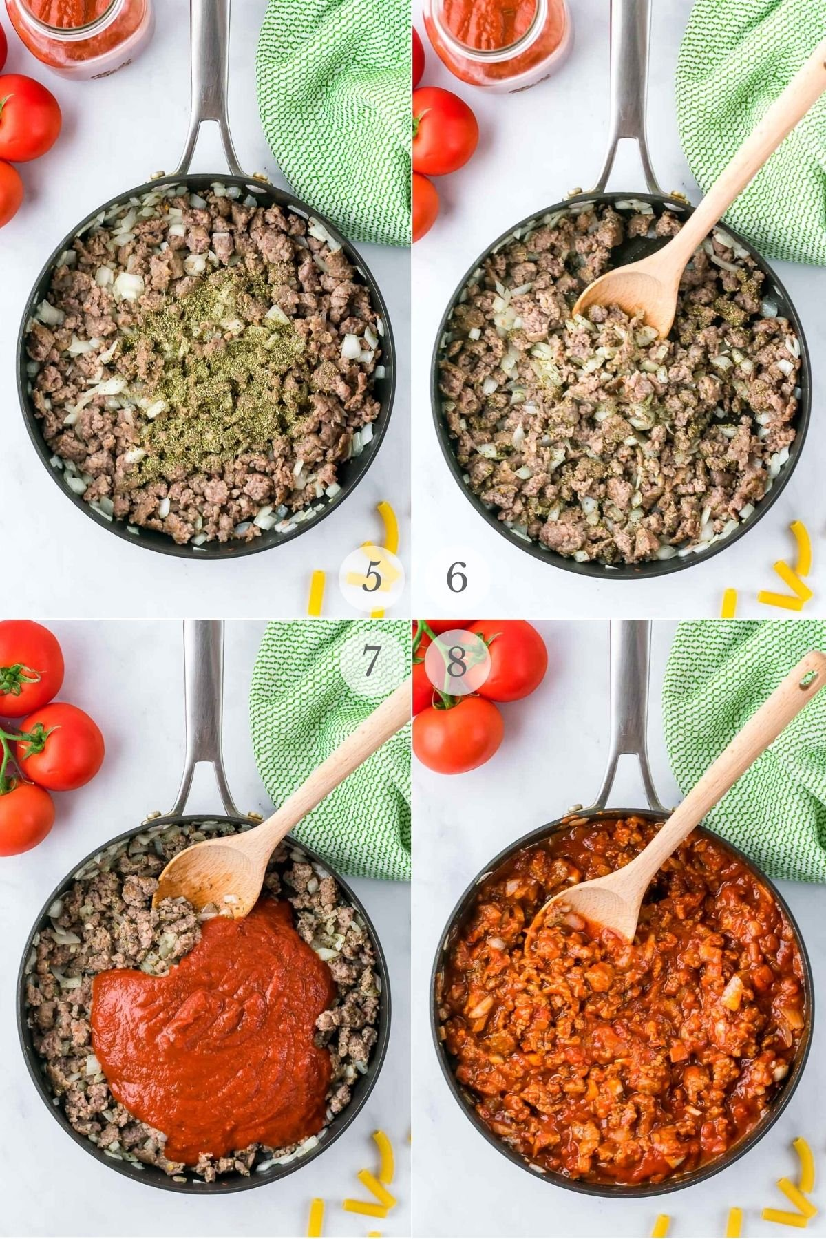 baked ziti recipe steps 5-8