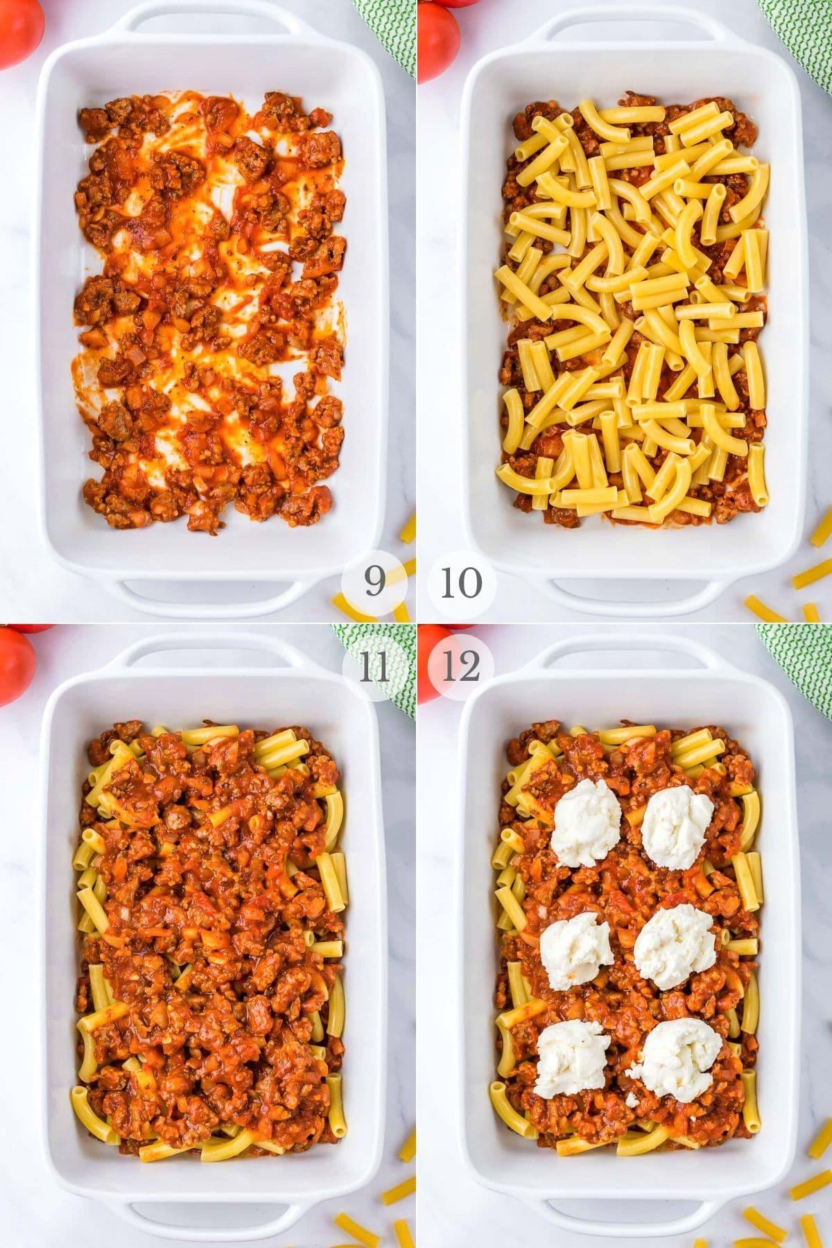 baked ziti recipes steps 9-12