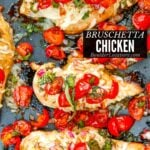 Bruschetta Chicken recipe – Baked, Grilled or Stove Top