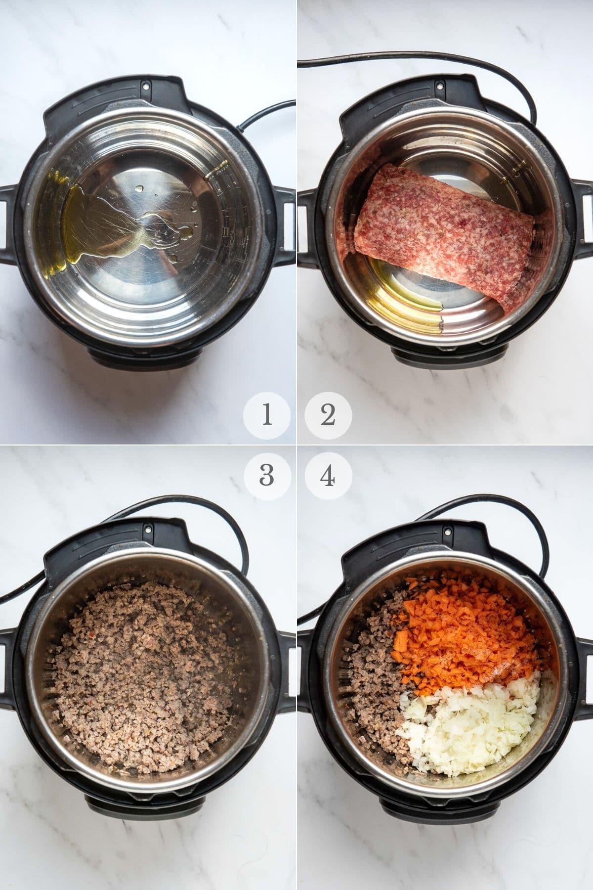pasta e fagioli recipe steps 1-4