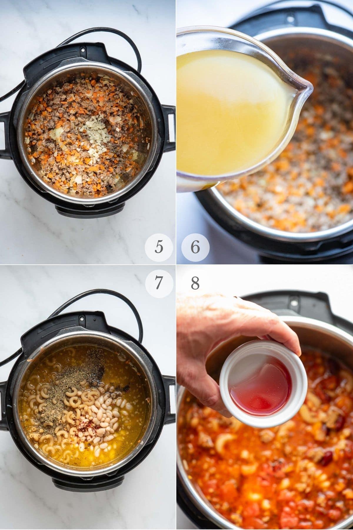 pasta e fagioli recipe steps 5-8