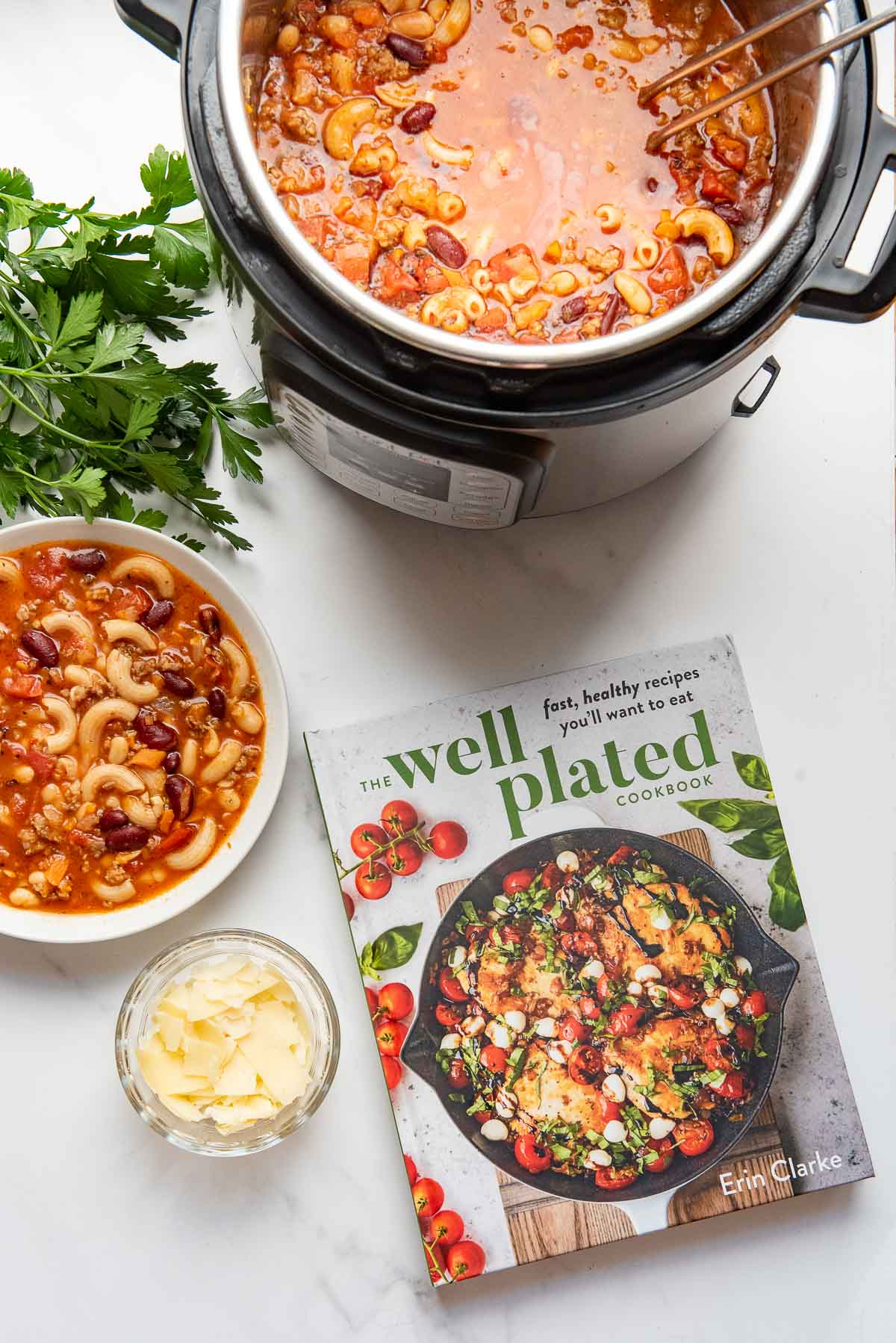 pasta e fagioli with cookbook