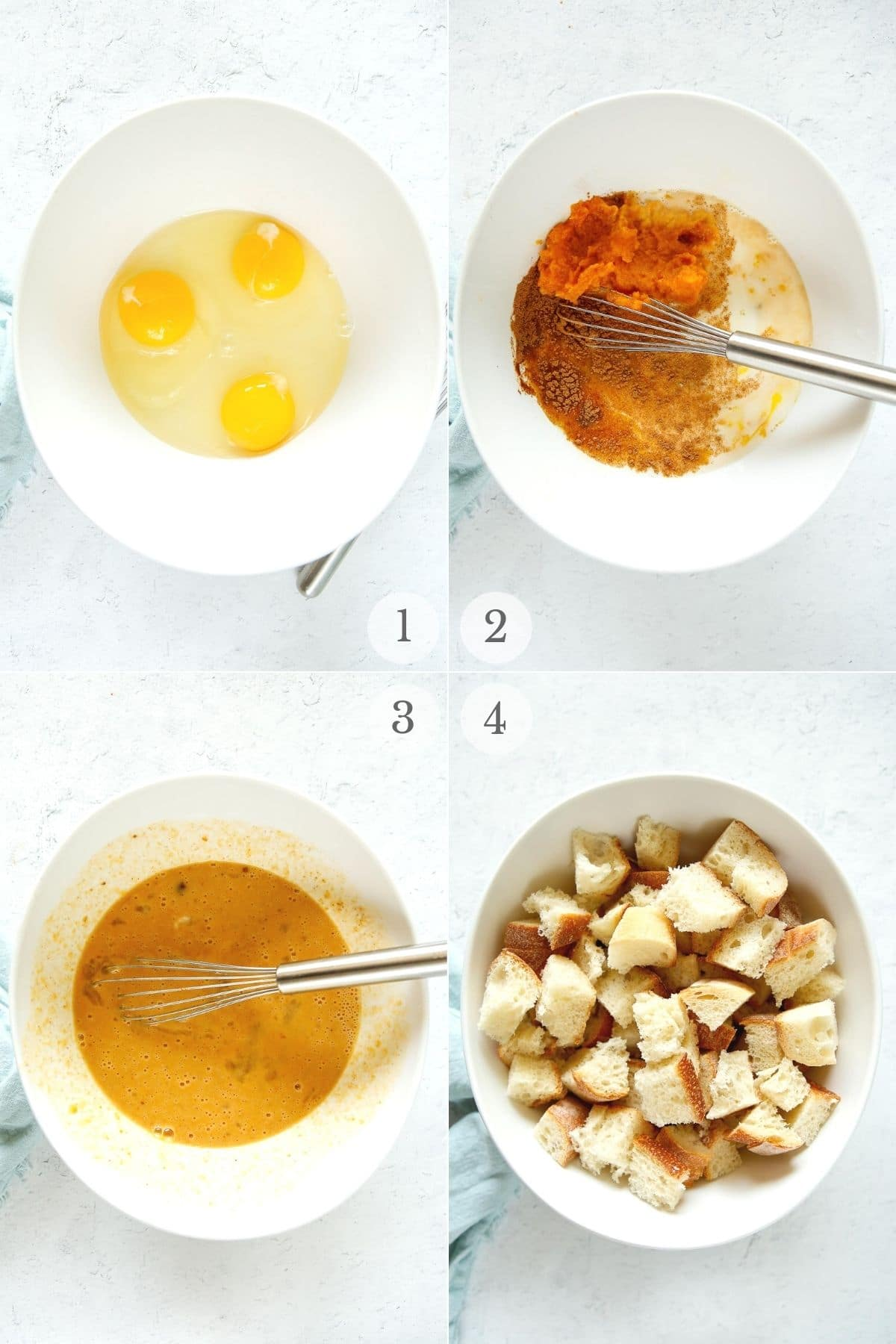 Pumpkin French Toast Casserole (Instant Pot) recipe steps 1-4a
