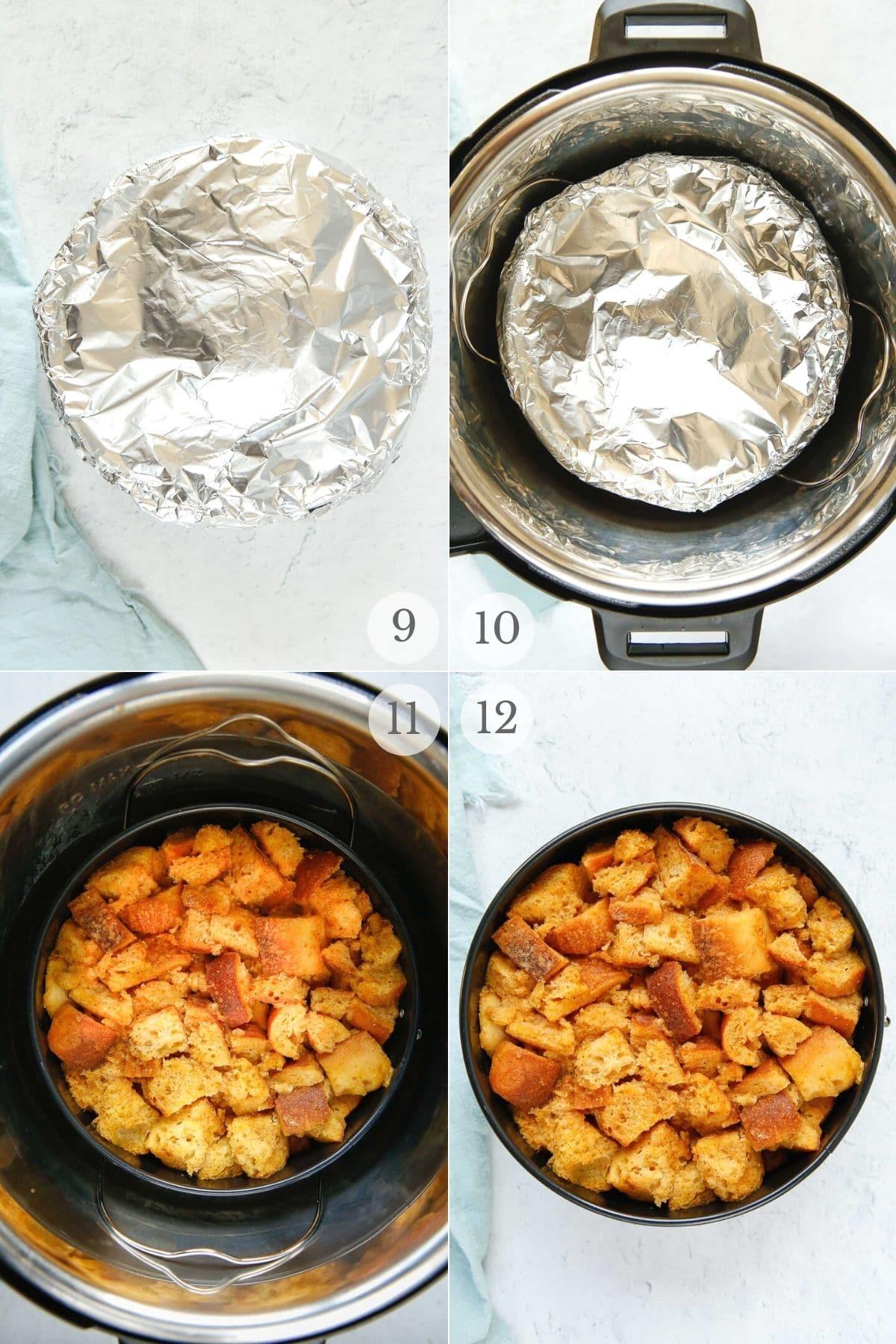 Pumpkin French Toast Casserole (Instant Pot) recipe steps 9-12a
