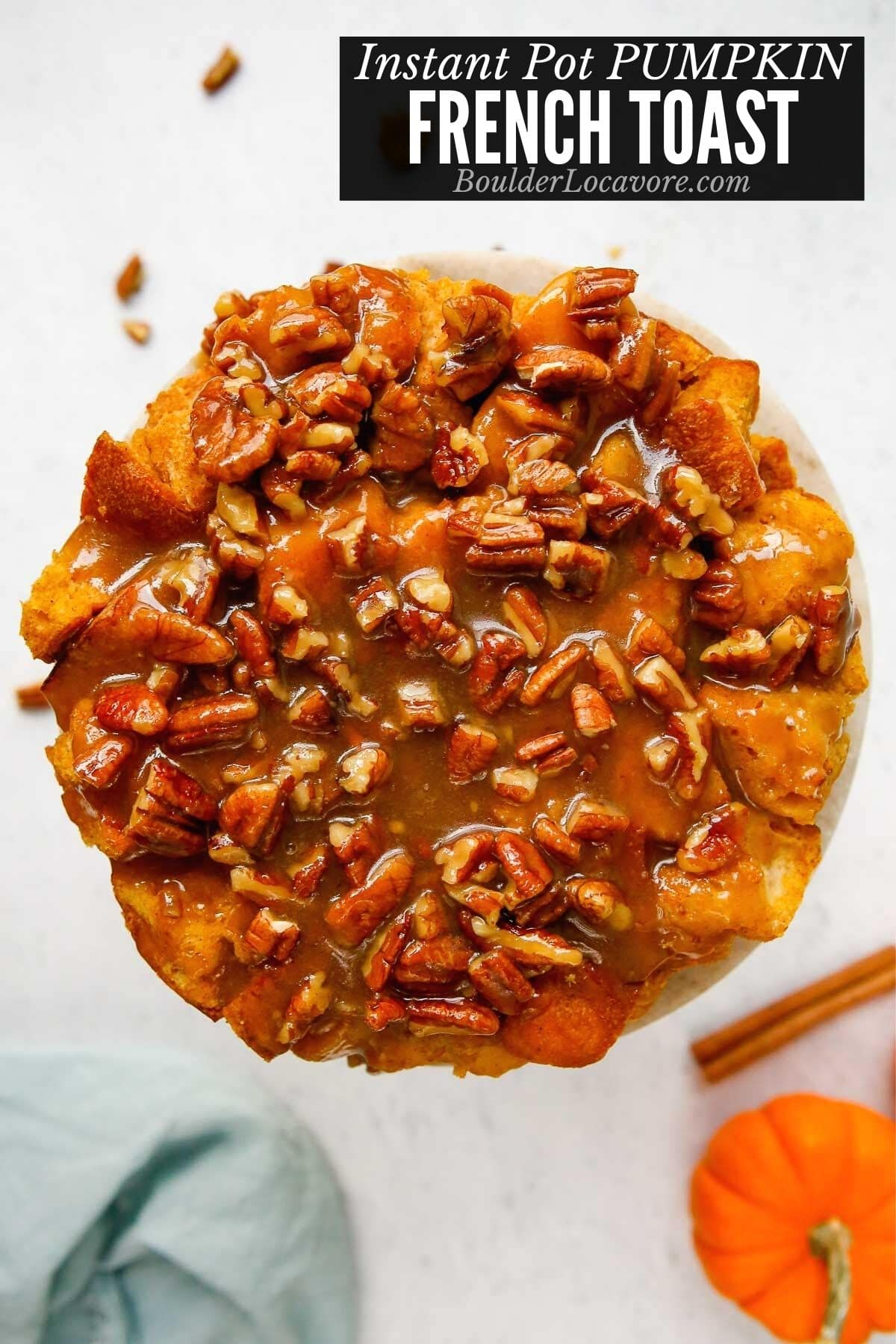 Pumpkin French Toast casserole title image