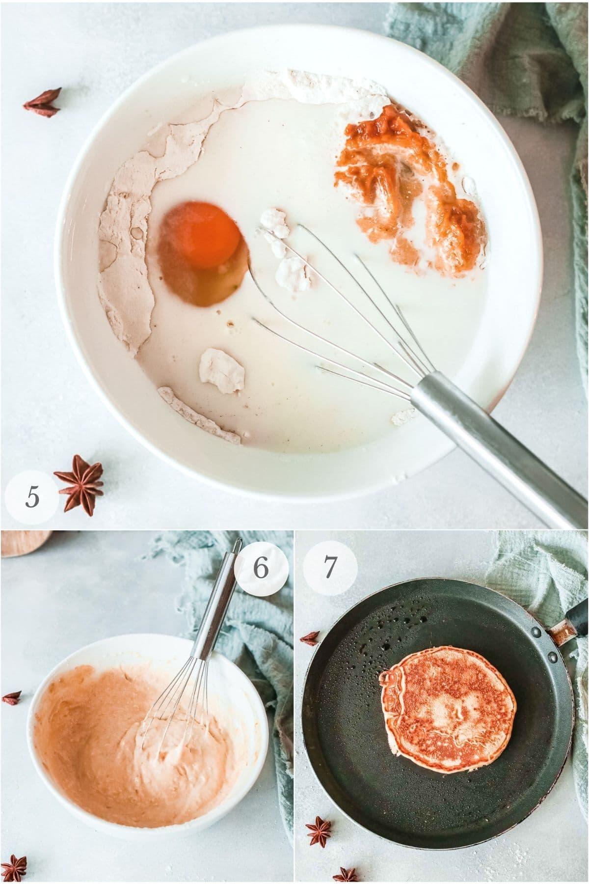 apple pancakes steps 5-7