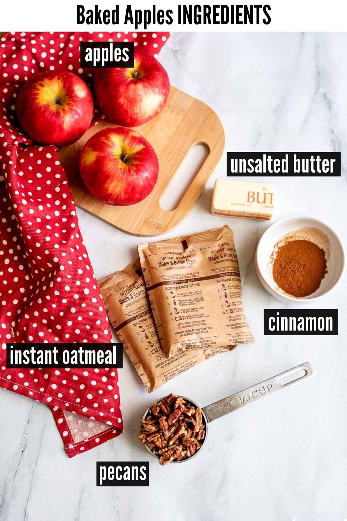 baked apples ingredients