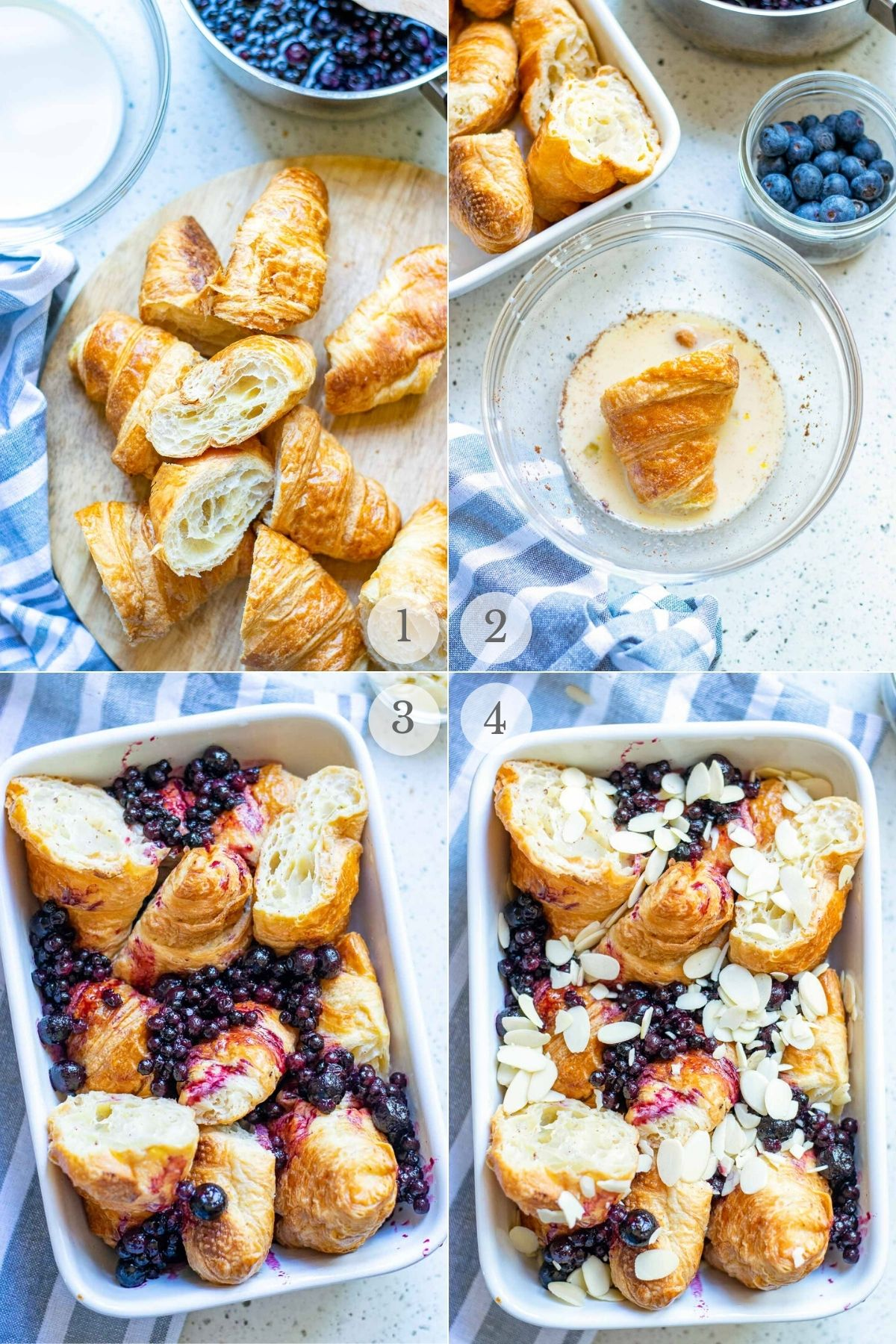 baked french toast recipe steps 1-4